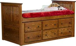 Amish Youth Captain Bed